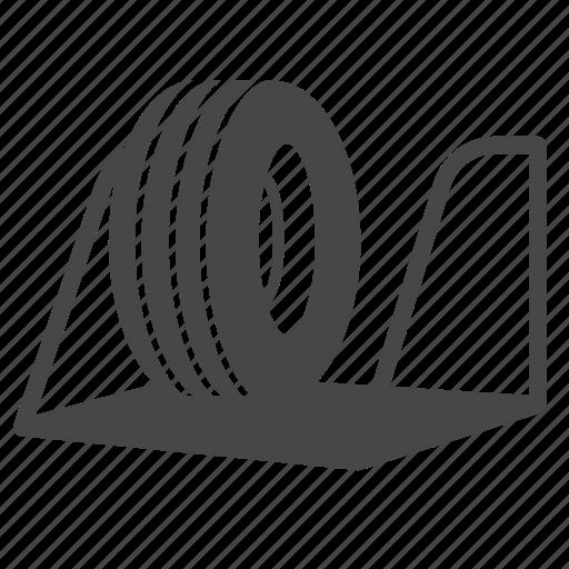 part, rack, storage, tire, wheel icon