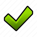 verified, checkmark, ok, toggle, done icon