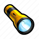 flashlight, light, off, search, toggle, unlit