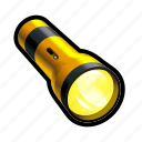 find, flashlight, light, lit, on, search, toggle icon