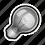 bulb, light, lightbulb, off, toggle, unlit icon