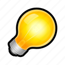 bulb, light, lightbulb, lit, on, toggle