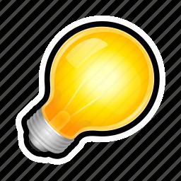 bulb, light, lightbulb, lit, on, toggle icon