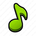 music, note, on, sound, toggle icon