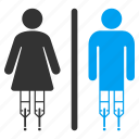 disabled, female, lady room, patient toilet, restroom, sanitary, wc persons icon