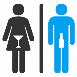 bathroom, lady room, lavatory, restroom, sanitary, unisex toilet, wc persons icon