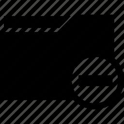 delete, document, folder, minus, remove icon