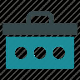 box, equipment, hardware, maintenance, service, toolbox, tools icon