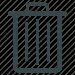 delete, dustbin, recycle bin, remove, rubbish basket, trash can, trashcan icon