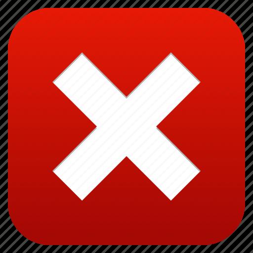 cancel, close, delete, exit, log out, logout, stop, terminate, trash icon