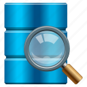 access, analysis, audit, bigdata, binoculars, cloud, data, database, db, device, disk, drive, explore, explorer, find, glass, look, magnifier, magnify, magnifying, magnifying glass, repository, research, save, scan, search, seo, server, storage, tool, view, zoom icon