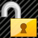 access, close, code, key, lock, locked, login, open, padlock, password, private, protection, register, registration, registry, safe, safety, secret, secure, security, unlock icon