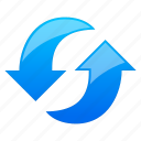 arrow, back, cancel, connect, connection, direction, download, exchange, forward, load, media, navigation, new, previous, redo, refresh, reload, repeat, reset, right, roll, rollback, rotate, rotation, sync, synchronize, transaction, undo, update, upload icon
