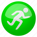 activity, arrow, begin, cancel, close, door, exit, fast, go, log out, login, logout, run, runner, running, sport, sports, start, training icon
