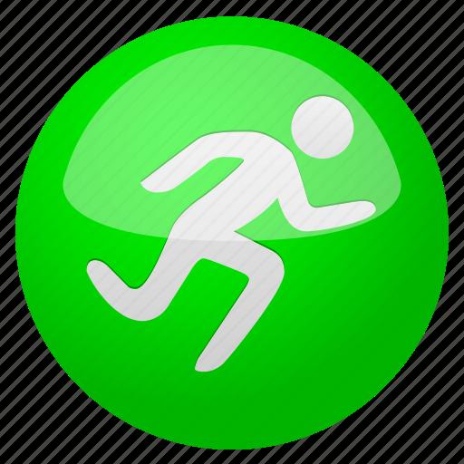 activity, arrow, begin, cancel, close, door, exit, fast, go, log out, login, logout, run, runner, running, sport, sports, start, training icon
