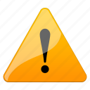 alarm, alert, attention, beware, caution, cautious, damage, danger, error, exclamation, hazard, important, information, problem, prompt, risk, safe, safety, signal, warning icon