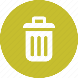 delete, garbage, junk, recycle, remove, rubbish, trash icon