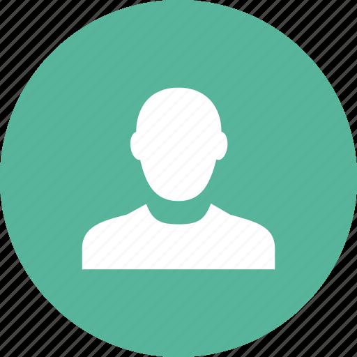 account, contact, male, person, portrait, profile, user icon