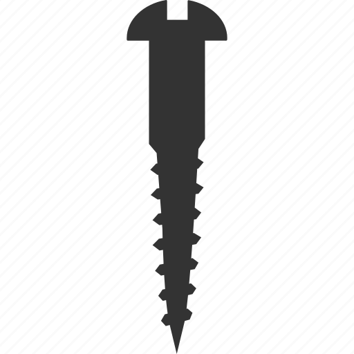 anchor, fasten, fastener, fixing, metal element, nail, screw icon