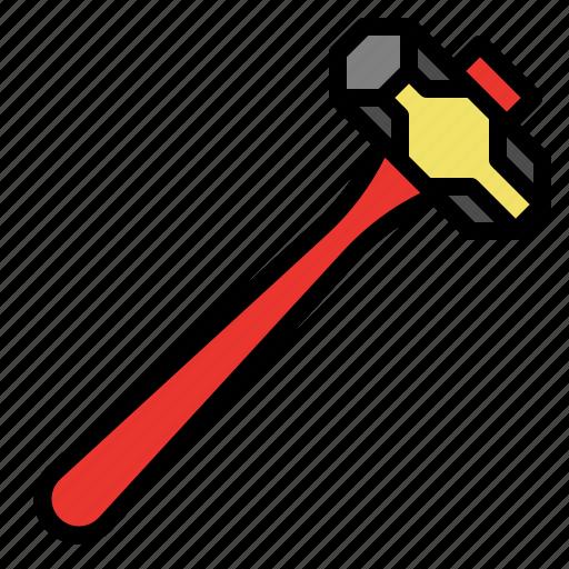 duty, heavy, sledgehammer, tool icon