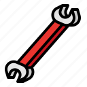 end, open, spanner, tool icon