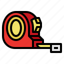 measure, measuring, tape, tool icon