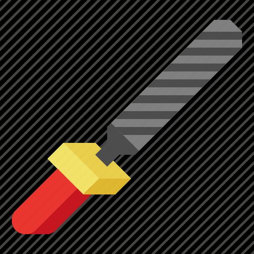 file, metal, tool, work icon