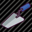buttering, repair, tool, trowel, work icon