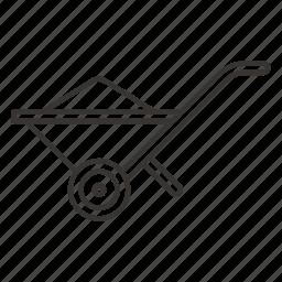barrow, garden, trolley, truck, wheelbarrow icon
