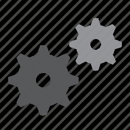 assembly, cog, cogwheel, gear, gears, mechanism, wheel icon
