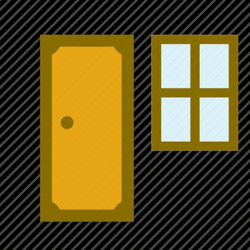carpenter, door, home, house, improvement, window icon