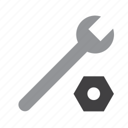 diy, home, improvement, nut, rusty, tool, wrench icon