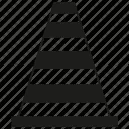 cone, construction cone icon