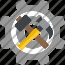 construction, equipment, hammer, tools icon