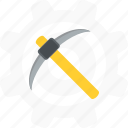 mine, mining, pick, tool icon
