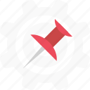 marker, pin, point, pointer icon