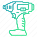 construction, drill, drilling, equipment, tool icon