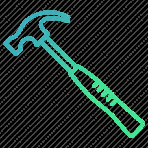 construction, equipments, hammer, repair, tool icon