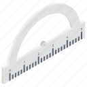 degree tool, drawing, geometry tool, measure angle, protractor icon