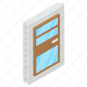 door, doorway, entrance, entryway, exit, home door icon
