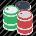 crude oil, oil barrels, oil container, oil drums, petroleum icon