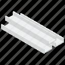 construction girder, construction material, construction tool, iron bars, steel beam, steel girder icon