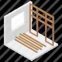 architecture, establishment, structure, under construction, wood construction icon