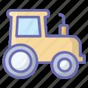 agricultural machinery, farm tractor, farmer truck, farming, tractor icon