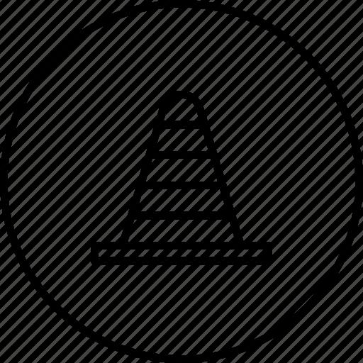 blocker, cone, construction, pylon, road, tool icon
