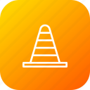 blocker, cone, construction, pylon, road, tool icon