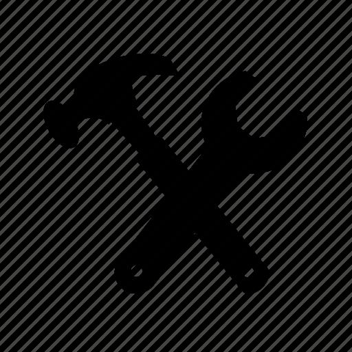 hammer, maintenance, repair, settings, tools icon