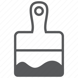 brush, build, construction, equipment, paint, tool, wall icon