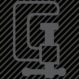 build, clamp, construction, equipment, fix, repair, tool icon