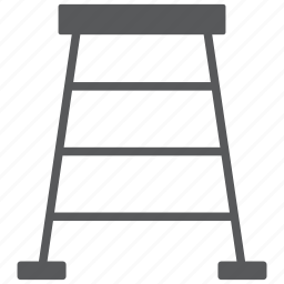 construction, equipment, ladder, stairs, step, tool, up icon